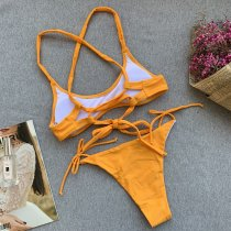 Plain Color Bikini Set