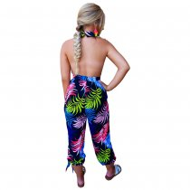 Print Sexy Halter Casual Jumpsuit