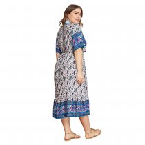 Plus Size Retro vestido casual