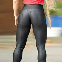 Leggings de yoga metálicos push up sexy