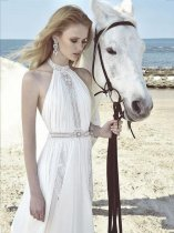 White Hollow Out Scoop Long Dress