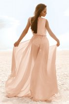 Sheer Sleeveless Long Cover Ups
