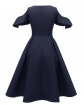 A-line Pleated Vintage Dress