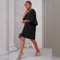 Casual Shirt Dress with Wide Cuffs