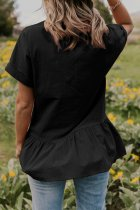 Fit-and-Flare Pocket Blouse
