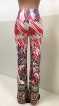 Print Enthic High Waist Holiday Trousers