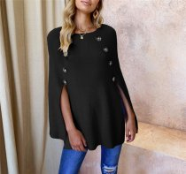 Occassional Slit Pullover Knit Top