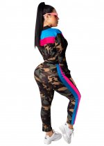 Camou Print Long Sleeve Tracksuit