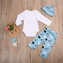 Baby Boy Autumn Print Three Pieces Pants Set