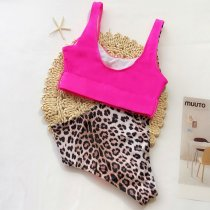 Leopard Print High Waist Swimwear