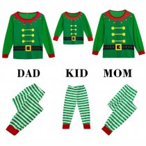 Family Daddy Green Christmas Pajamas Set