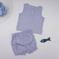 KIds Girl Set met zomerprint met stipjesprint