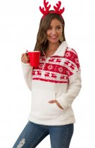 Weihnachten Polar Fleece High Neck Pullover Sweat