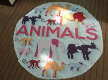 Animal Print Round Beach Towel 21434-6