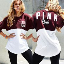 Letter Print Contrast Sweatshirts 23047
