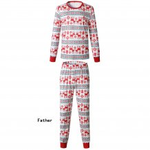 Family Wear Father's Christmas Elk Pajama