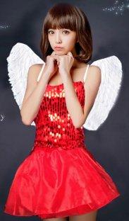 Paillettes Angel Dress with Wing