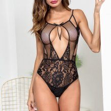 Sexy Lace Keyhole Teddy Lingerie