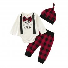 Baby Boy Christmas Three Piece Suit