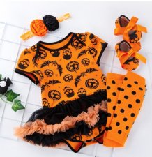 Baby Girl Three Pieces Halloween Tutu Dress Set