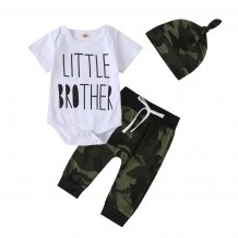 Baby Boy Summer Camou Pants Set with Hat