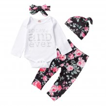 Baby Girl 4 Piece Floral Pants Set