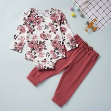 Baby Girl Floral Pants Suit