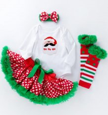 Baby Girl Four Piece Christmas Tutu Skirt Suit