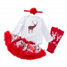 Baby Girl Christmas Shirt and Tutu Skirt Set
