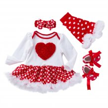 Baby Girl Christmas Tutu Dress Set