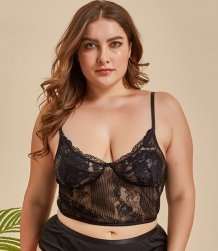 Plus Size Lace Straps Dessous Top