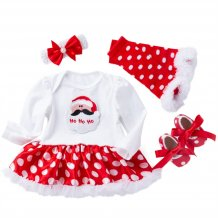 Baby Girl Christmas Dress Set