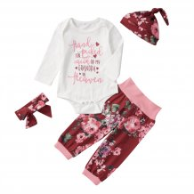 Baby Girl Floral Print Pants Suit