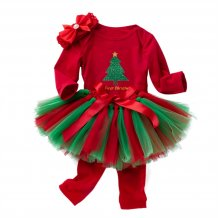 Baby Girl Christmas Skirt Set