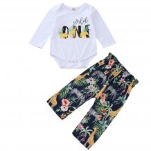Baby Girl Print Rompers and Pants
