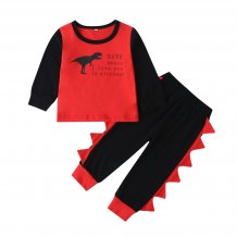 Kids Boy Contrast Long Sleeves Shirt and Pants Set