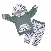 Kids Boy Print Hoody Sweat Suit