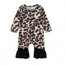 Baby Girl Leopard Jumpsuit Rompers