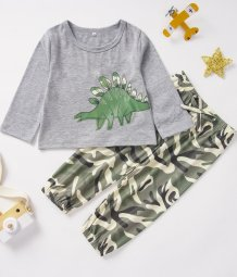 Kids Boy Print Shirt and Pants Set