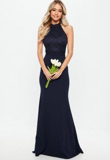 Lace Upper Scoop Mermaid Evening Dress