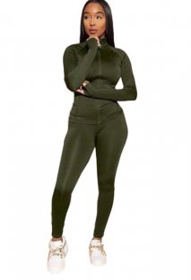 Sports Tight Long Sleeves Zipper Tracksuit