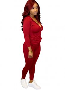 Sports Tight Long Sleeves Hoody Tracksuit