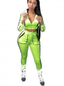 Sports Neon Long Sleeve Tracksuit