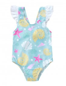 Kids Girl Print One-Piece Swimwear