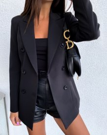 Office Lady Sheer Blazer with Full Sleeves