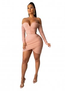 Sexy Cut Out Strapless Ruched Party Dress