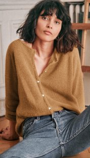 Button Up Long Sleeve Knitting Top