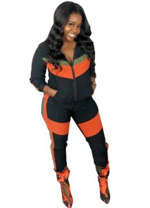 Contrast Long Sleeves Tracksuit