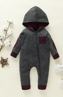 Baby Boy Winter Hoody Rompers