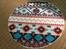 Geometric Print Round Beach Towel 21434-4